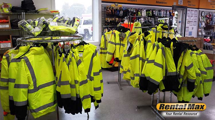 Safety apparel is available at RentalMax in the Greater Chicagoland area