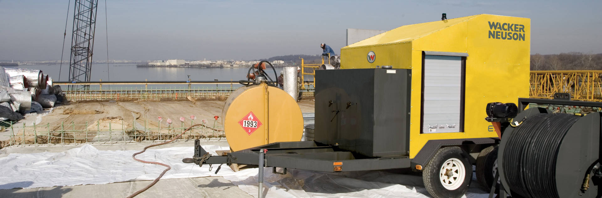 Wacker ground heater rentals from RentalMax in Chicagoland