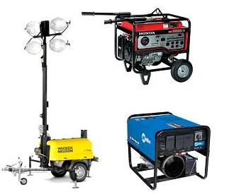 Rent Generators, Welders & Light Towers